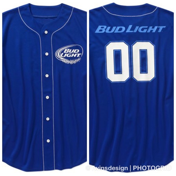 7b8ad479f93 official product Shirts | Bud Light Mens Baseball Jersey Large Nwot ...
